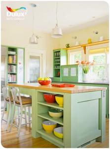 Gian bếp vui vẻ với những gam màu rực rỡ